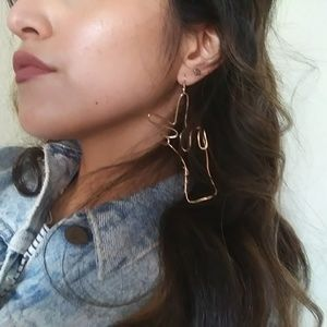 Jewelry - Peace Sign Gold Earrings